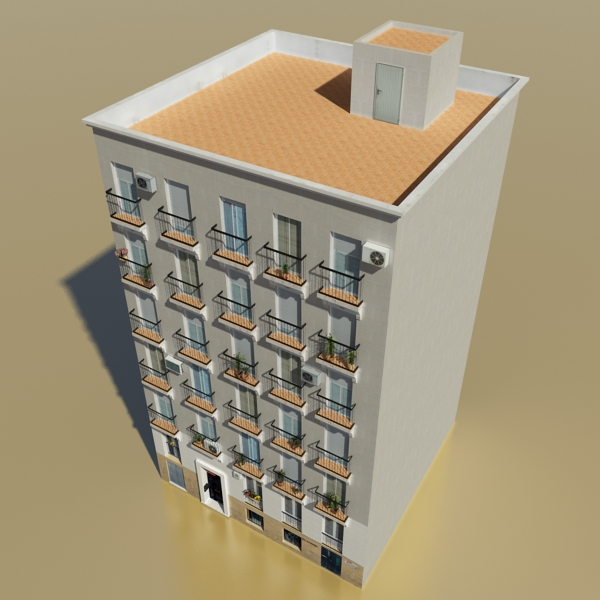 photorealistic low poly building 11 3d model 3ds max obj 149211