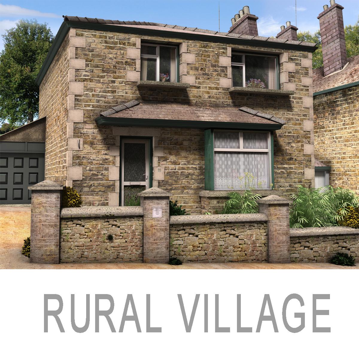 rural village 3d model max fbx c4d ma mb obj 159419