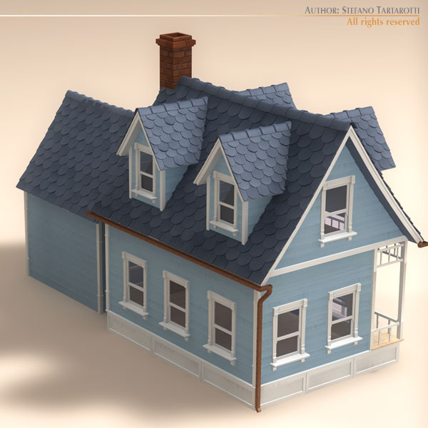 toon house and car 1 7706kb jpg by tartino - House Model 3d