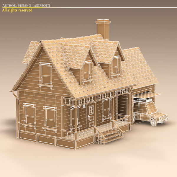Attractive Toon House And Car 1 ( 103.97KB Jpg By Tartino )