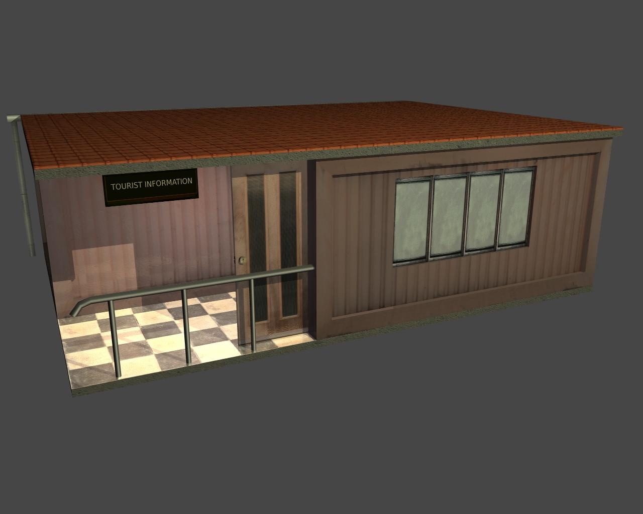 tourist office 3d model 3ds 165609