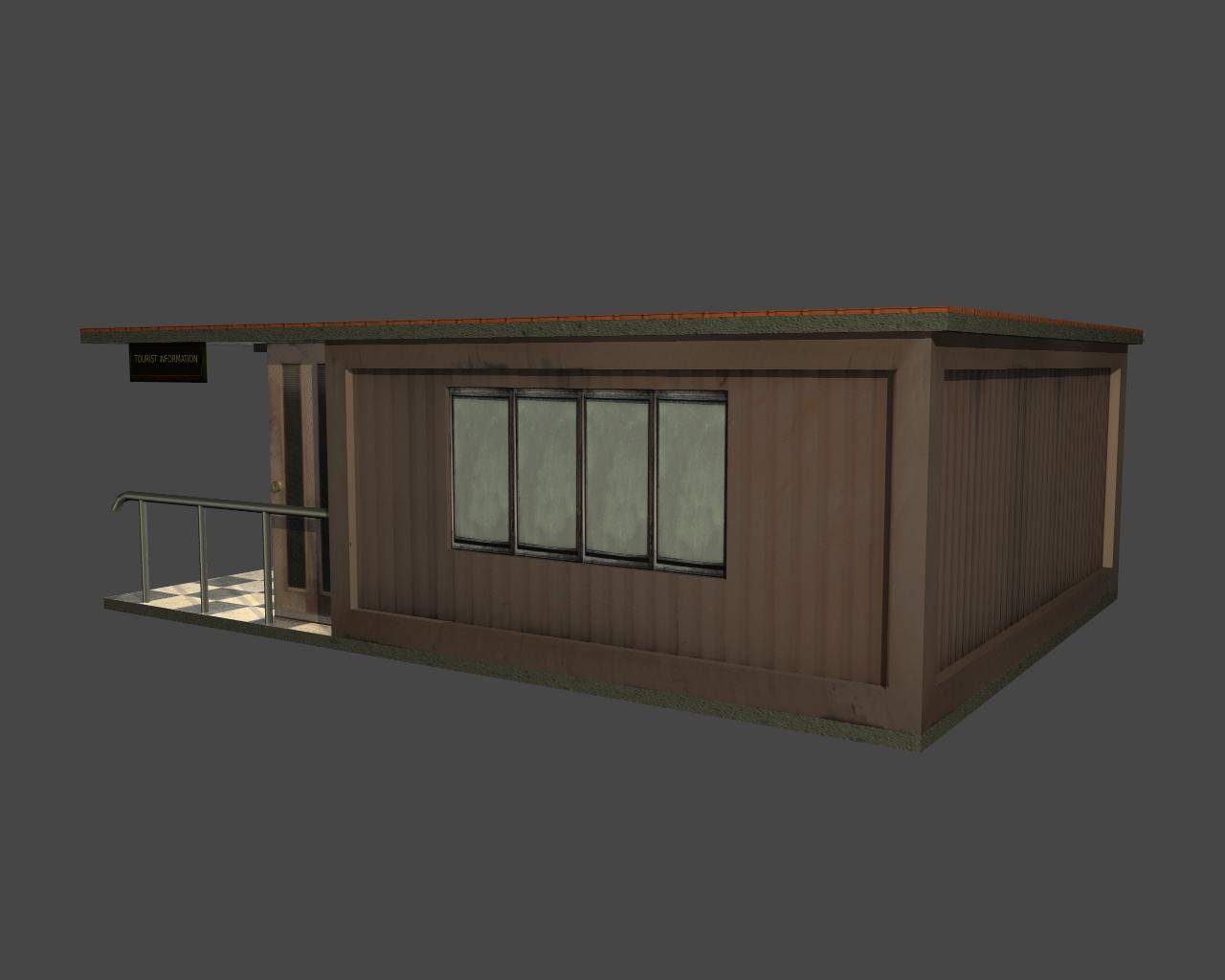 tourist office 3d model 3ds 165610