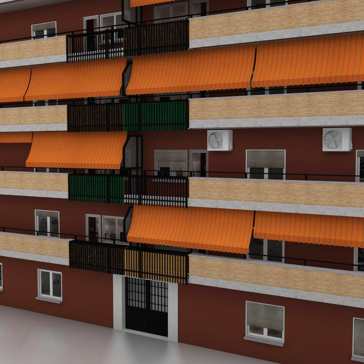 typical spanish building 3d model 3ds max fbx c4d ma mb obj 159485