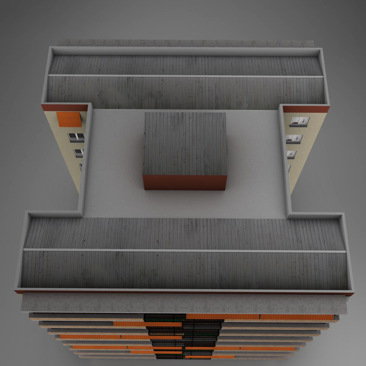 typical spanish building 3d model 3ds max fbx c4d ma mb obj 159487