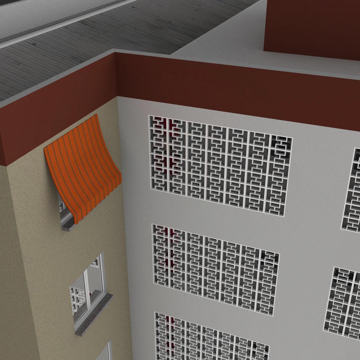 typical spanish building 3d model 3ds max fbx c4d ma mb obj 159488