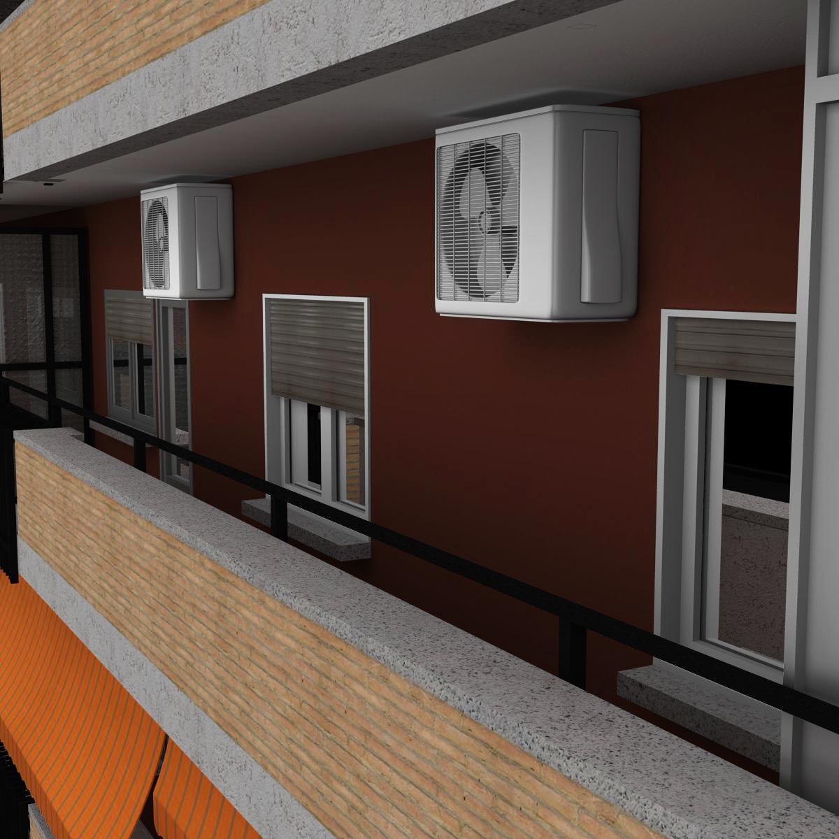 typical spanish building 3d model 3ds max fbx c4d ma mb obj 159489