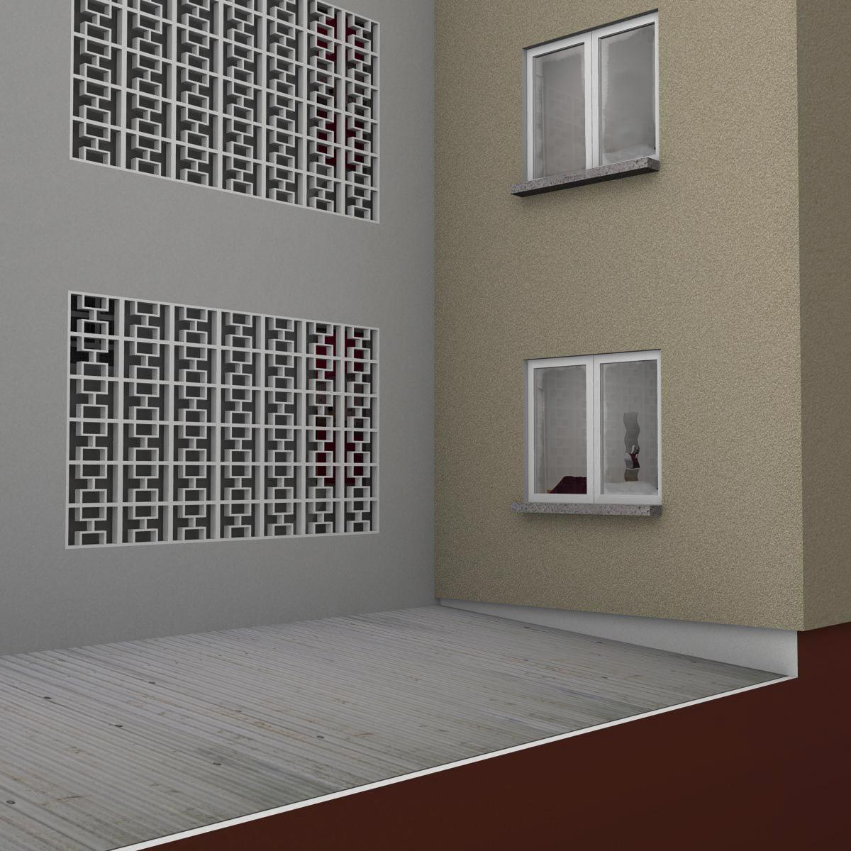 typical spanish building 3d model 3ds max fbx c4d ma mb obj 159491