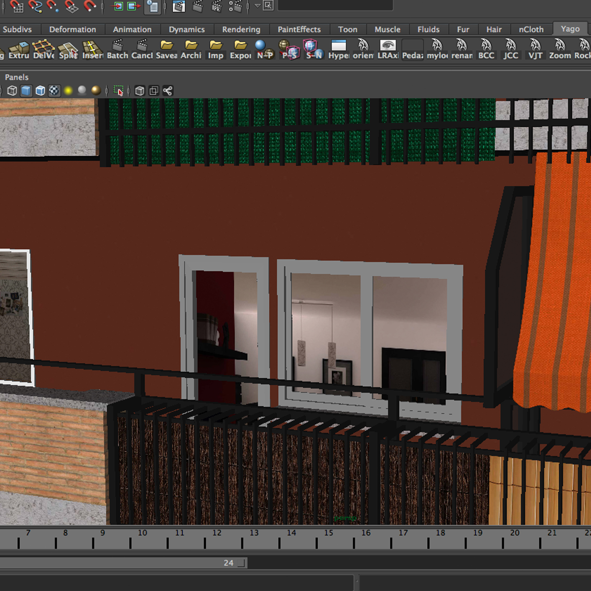 typical spanish building 3d model 3ds max fbx c4d ma mb obj 159492
