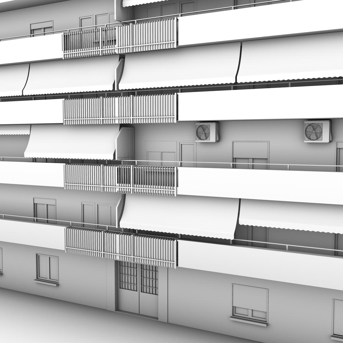 typical spanish building 3d model 3ds max fbx c4d ma mb obj 159496