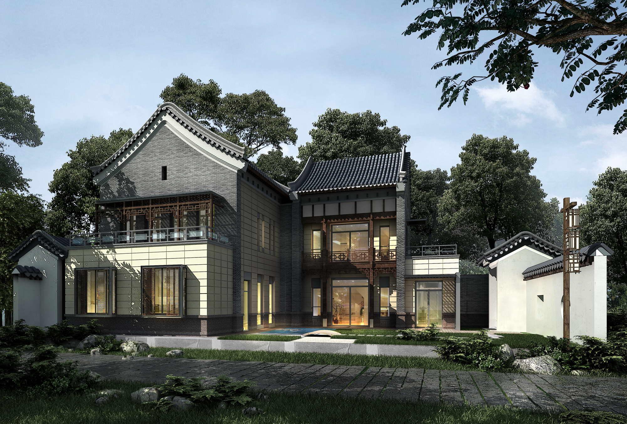 Villa 005 3d model buy villa 005 3d model flatpyramid for Villas 3d model