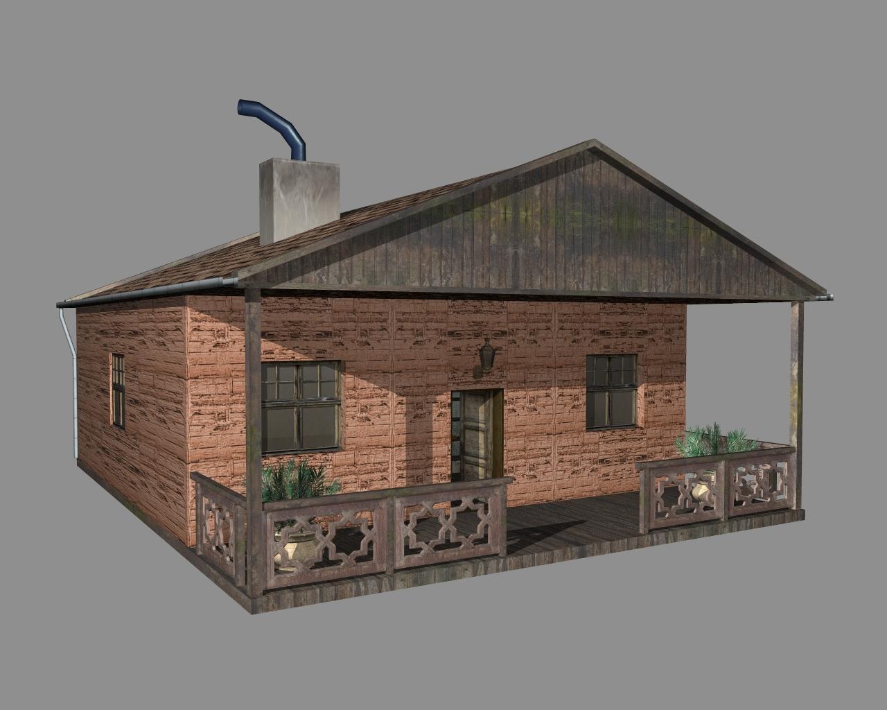wooden house 2 3d model 3ds 166189