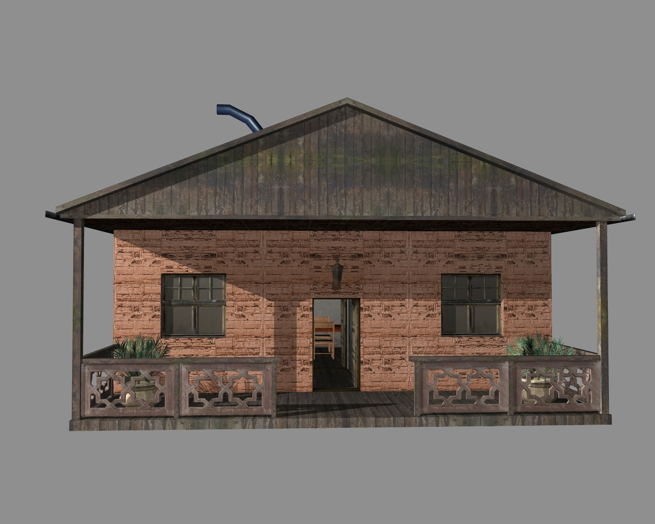 wooden house 2 3d model 3ds 166190