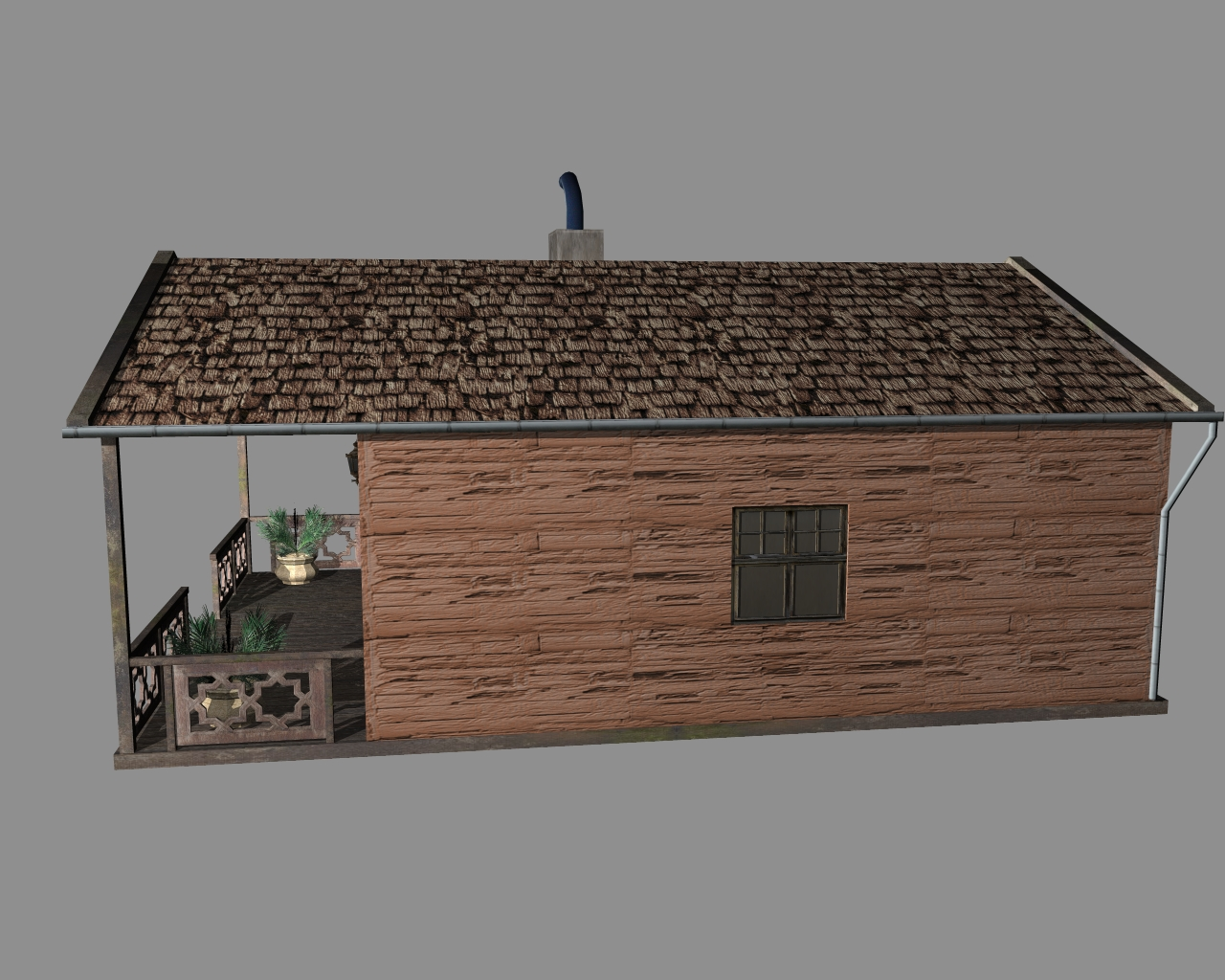 wooden house 2 3d model 3ds 166192