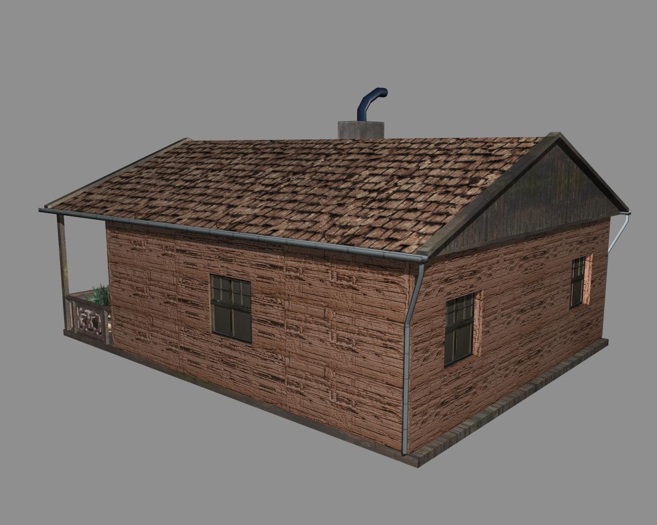 wooden house 2 3d model 3ds 166193