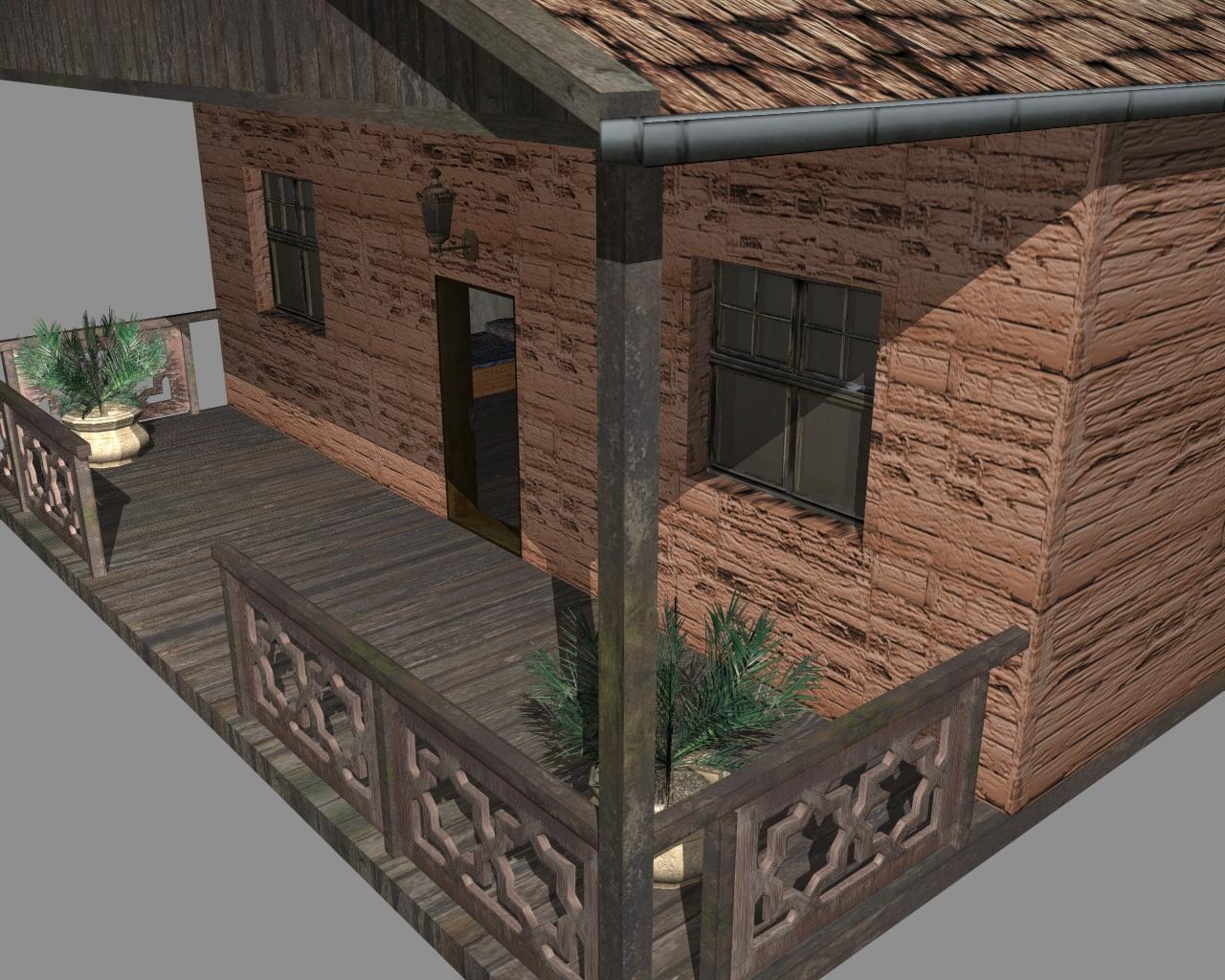 wooden house 2 3d model 3ds 166195