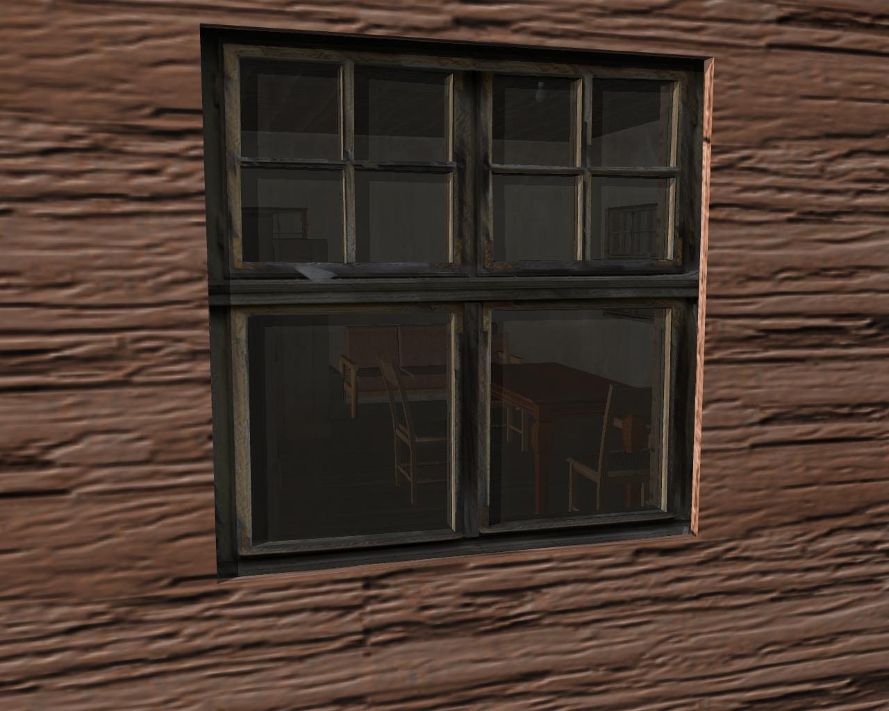 wooden house 2 3d model 3ds 166196