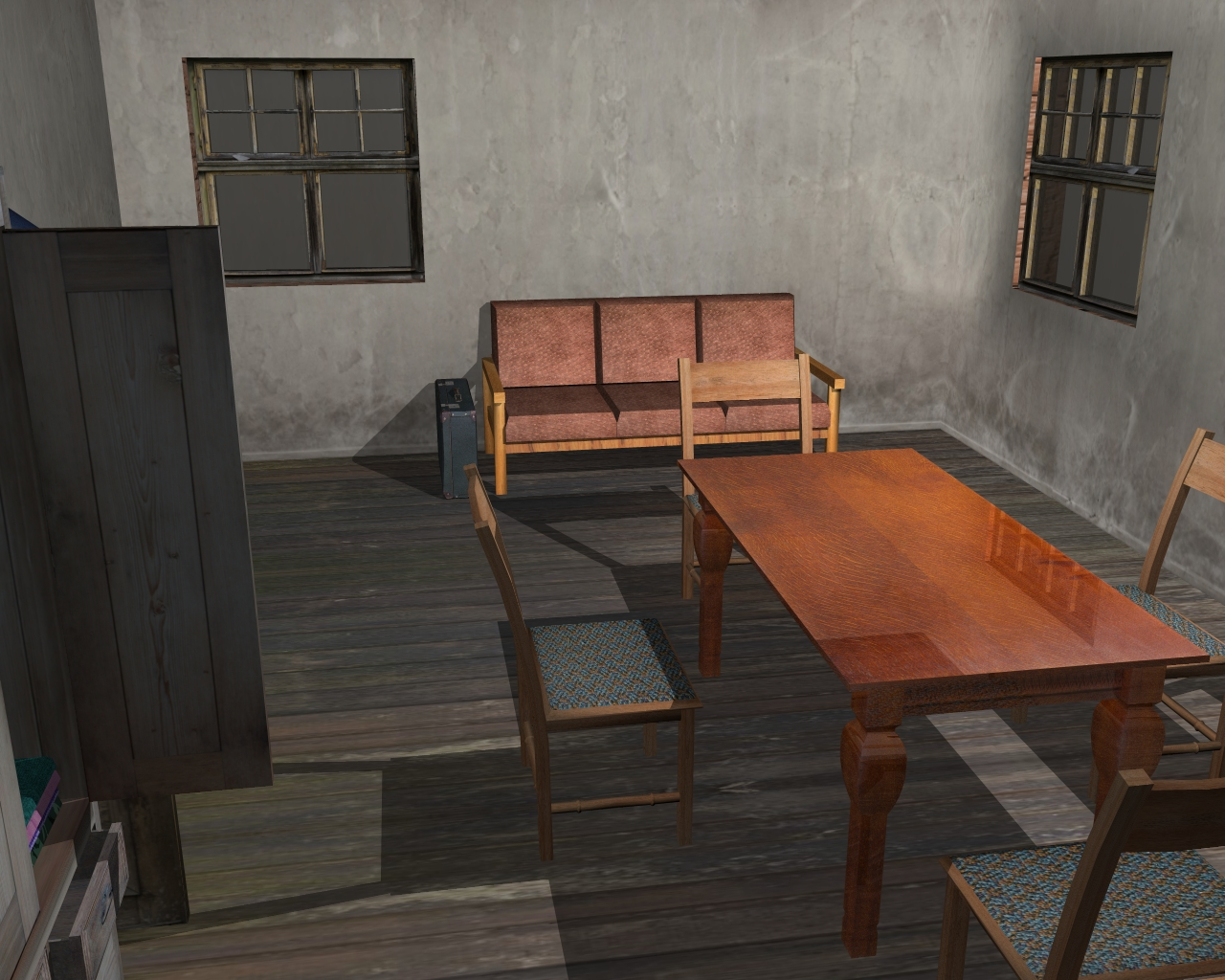 wooden house 2 3d model 3ds 166197