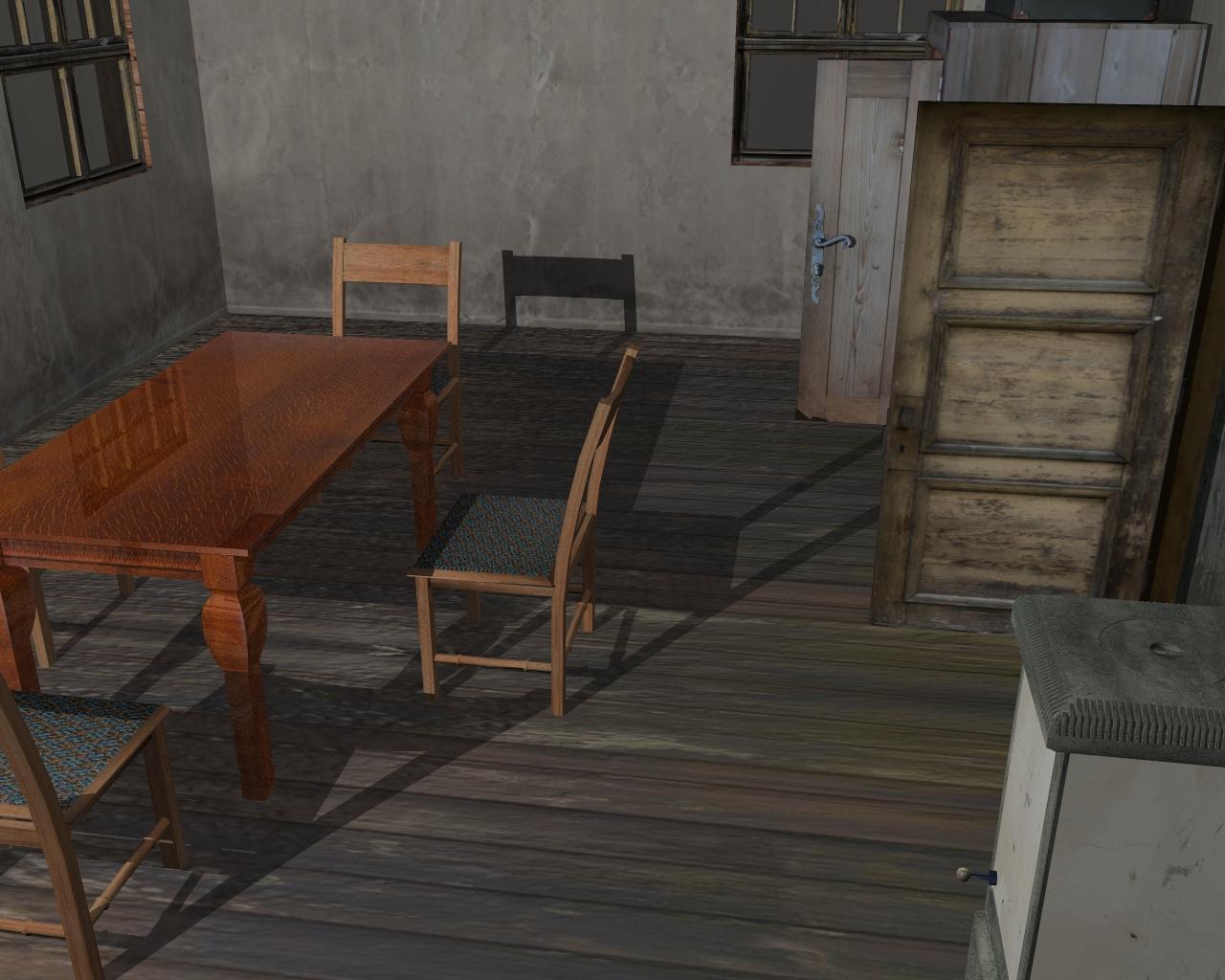 wooden house 2 3d model 3ds 166199