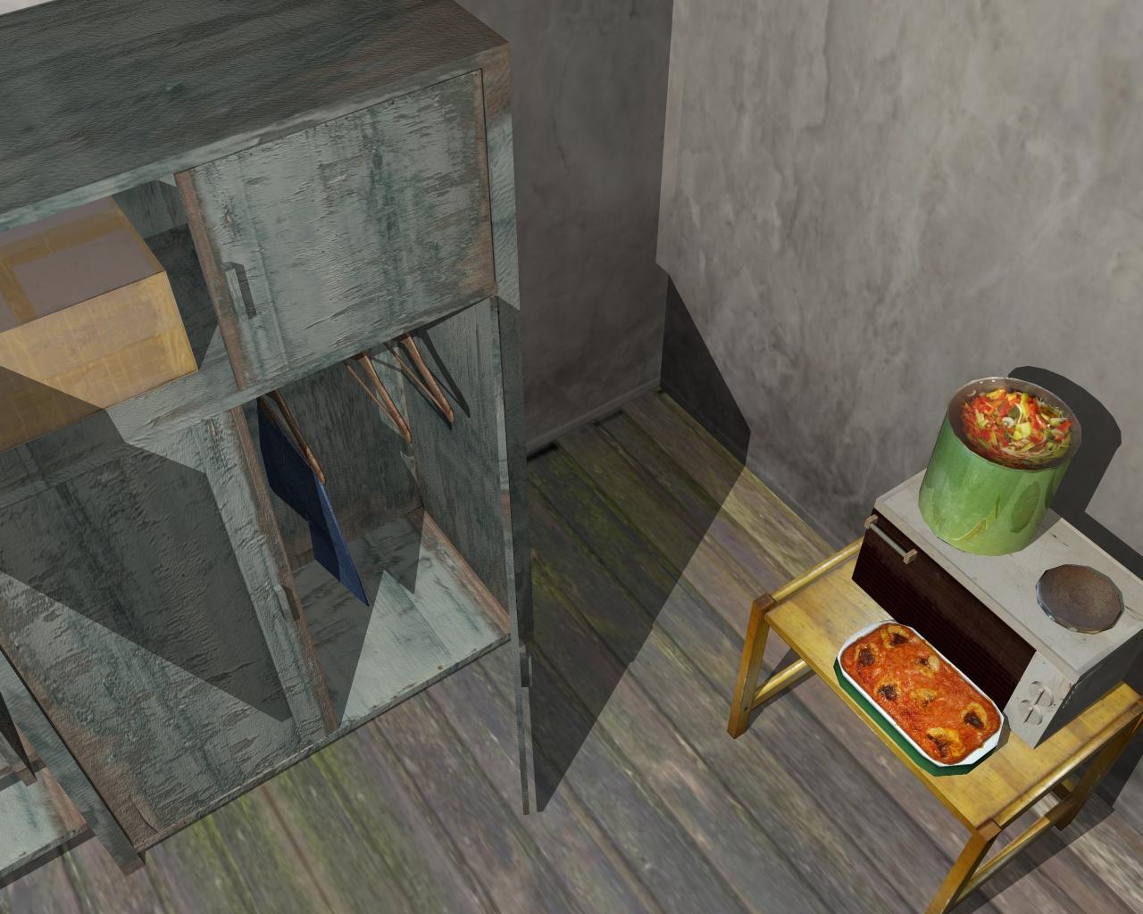 wooden house 2 3d model 3ds 166202