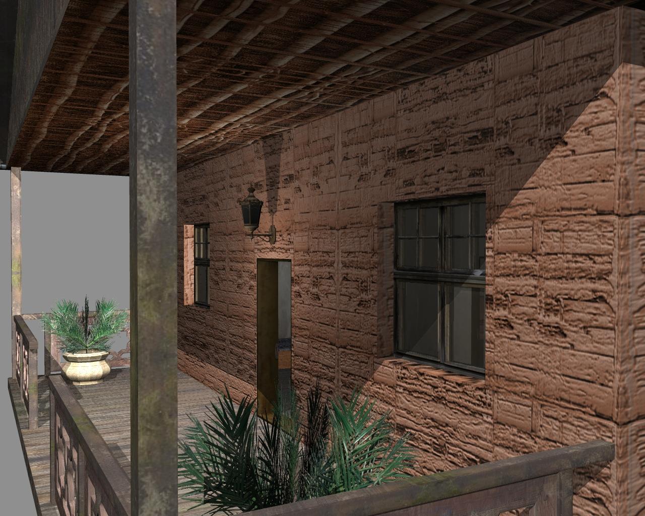wooden house 2 3d model 3ds 166205