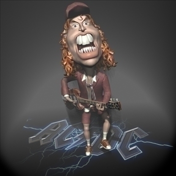 angus young 3d character toon 3d model max lwo obj 106576