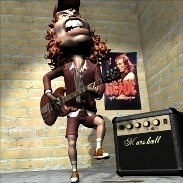 angus young 3d character toon 3d model max lwo obj 106577