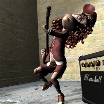 angus young 3d character toon 3d model max lwo obj 106578