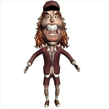 angus young 3d character toon 3d model max lwo obj 106582