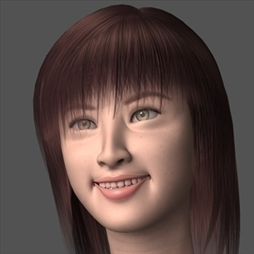 asian smile 3d model lwo 89867