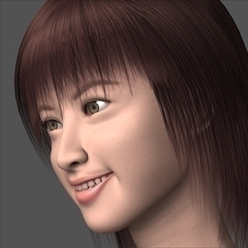 asian smile 3d model lwo 89868