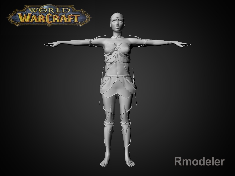 blood elf elaya 3d model fbx dae ma mb obj 116402
