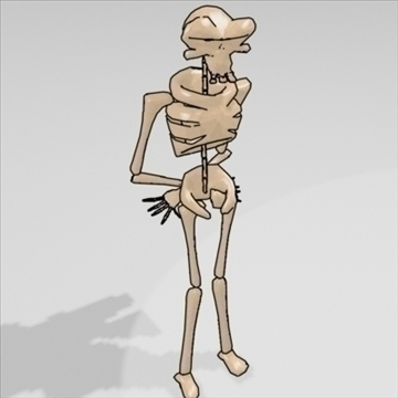 bonnie skeleton character 3d model 3ds max 82527