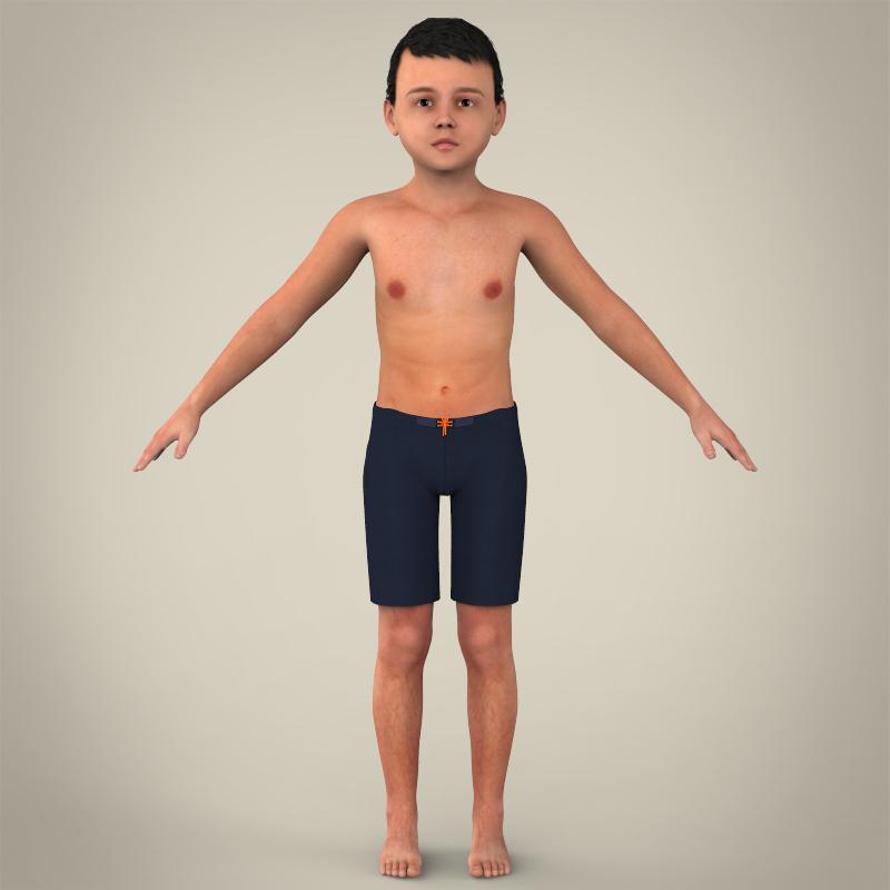 zēns bērns 3d modelis 3ds max fbx c4d lwo ma mb faktūra obj 163608