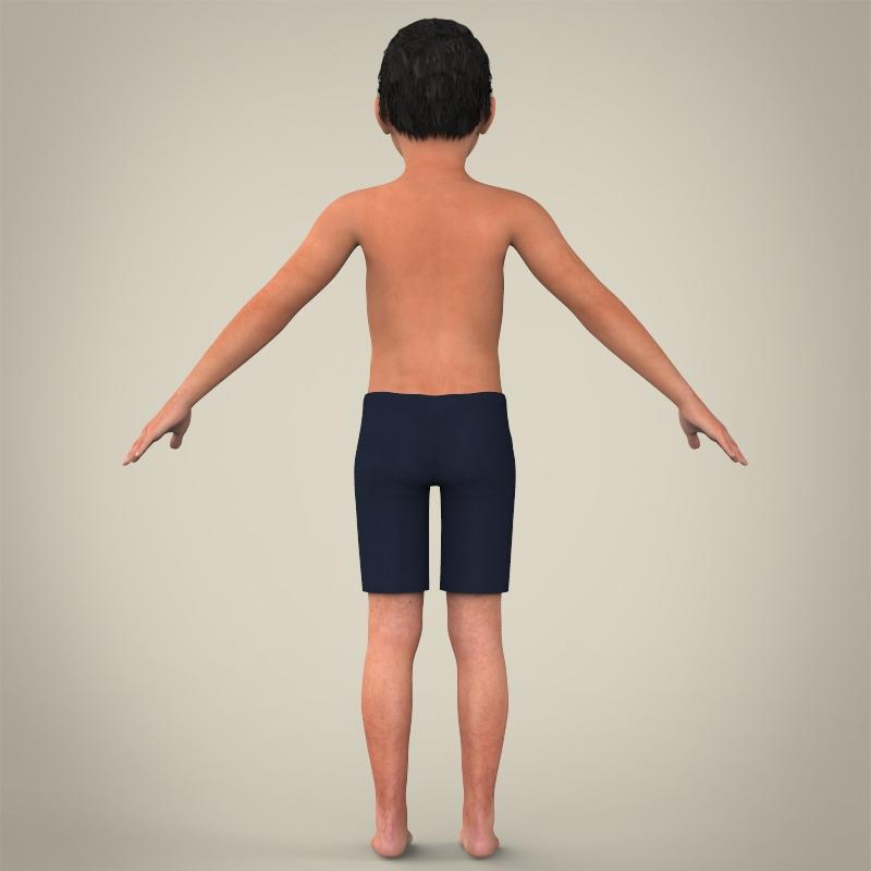 zēns bērns 3d modelis 3ds max fbx c4d lwo ma mb faktūra obj 163612