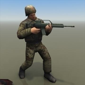 bundeswehr_infantry 3d model 3ds max fbx lwo ma mb hrc xsi obj 99243