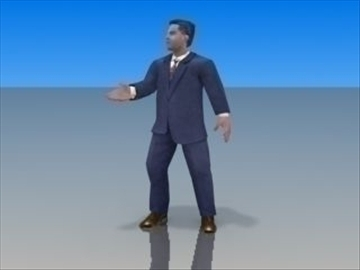 businessman character 3d model 3ds max lwo hrc xsi obj 99620