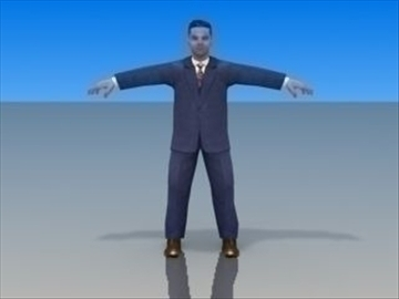 businessman character 3d model 3ds max lwo hrc xsi obj 99621