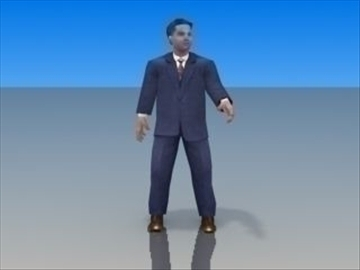 businessman character 3d model 3ds max lwo hrc xsi obj 99624