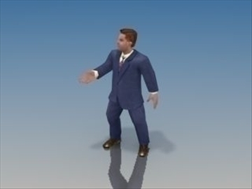 businessman character 3d model 3ds max lwo hrc xsi obj 99625