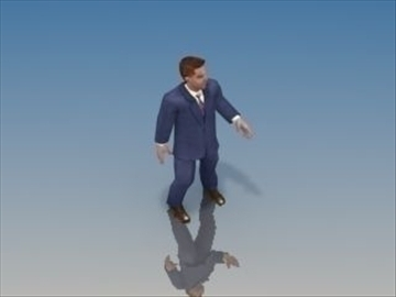 businessman character 3d model 3ds max lwo hrc xsi obj 99627