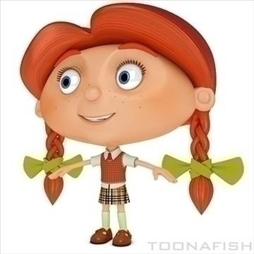 cartoony girl 3d model fbx lwo other hrc xsi texture obj 100312