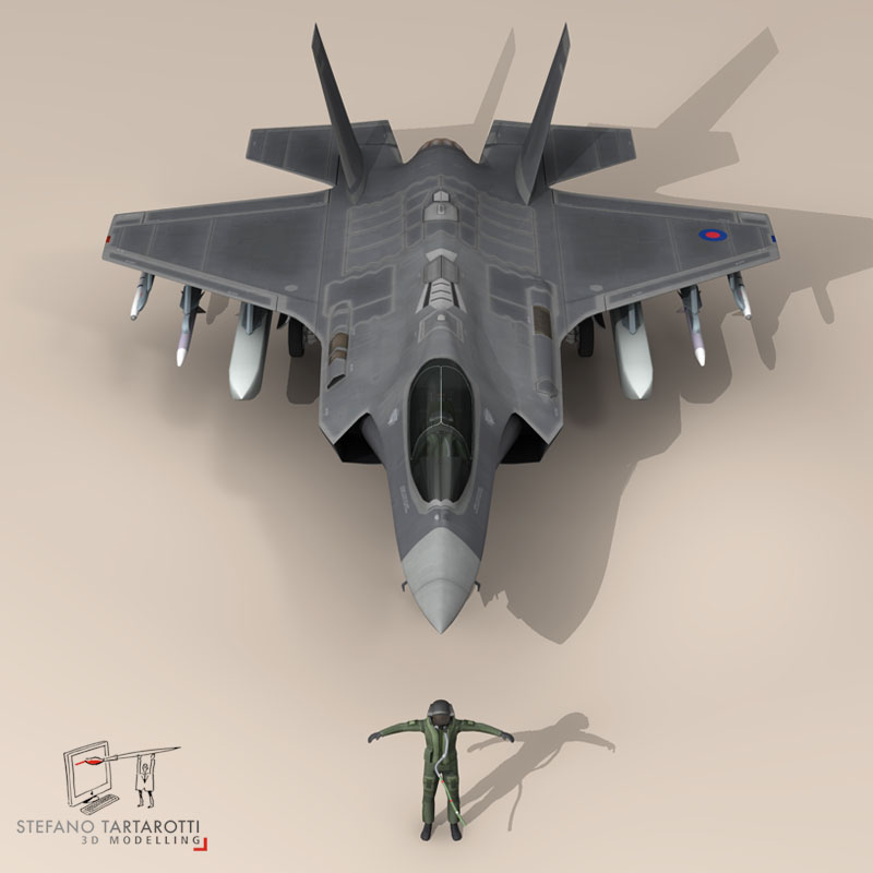 f 35 a royal air force 3d model 3ds dxf fbx c4d obj 147206