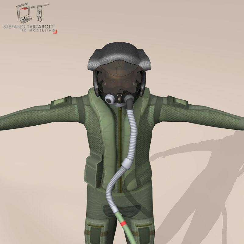 f35 pilot 3d model 3ds dxf fbx c4d obj 147186