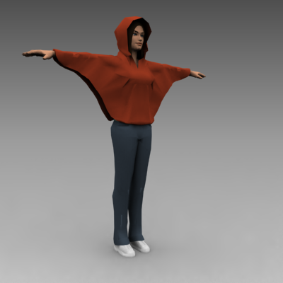 female character body babe 3d model max 92922