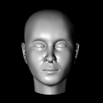 female head.zip 3d model 3ds dxf fbx c4d obj 85010