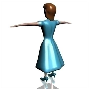 meitene zilā krāsā 3d modelis 3ds max dxf obj 104904
