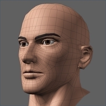 hero head 3d model c4d lwo obj 89613