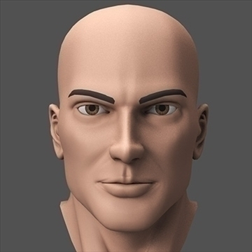 hero head 3d model c4d lwo obj 89614