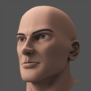 hero head 3d model c4d lwo obj 89615