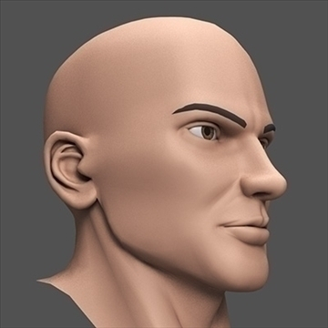 hero head 3d model c4d lwo obj 89617
